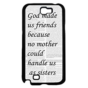 linJUN FENGGod Made Us Friends With Quote Hard Snap On Cell Phone Case Cover (Samsung Galaxy Note II 2 N7100)