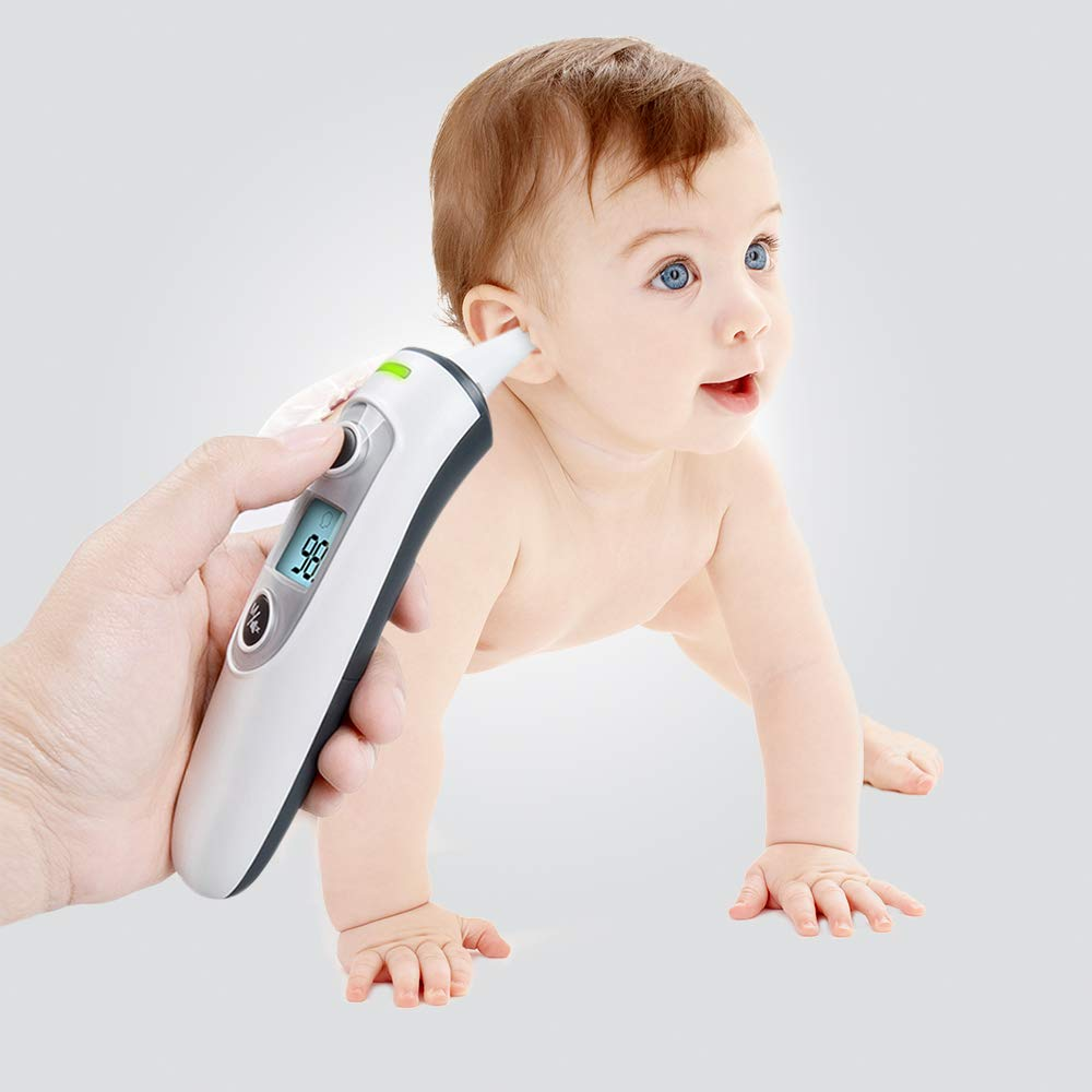 Thermometer for Fever Ear and Forehead, Thermometer for Baby, Kid and Adult,Multifunction Digital Medical Infrared Thermometer