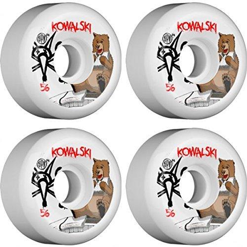 嬉しいです摘む満員Bones Wheels Kevin Kowalski SPF Bearホワイトスケートボードホイール – 56 mm 83b ( Set of 4 ) [並行輸入品]