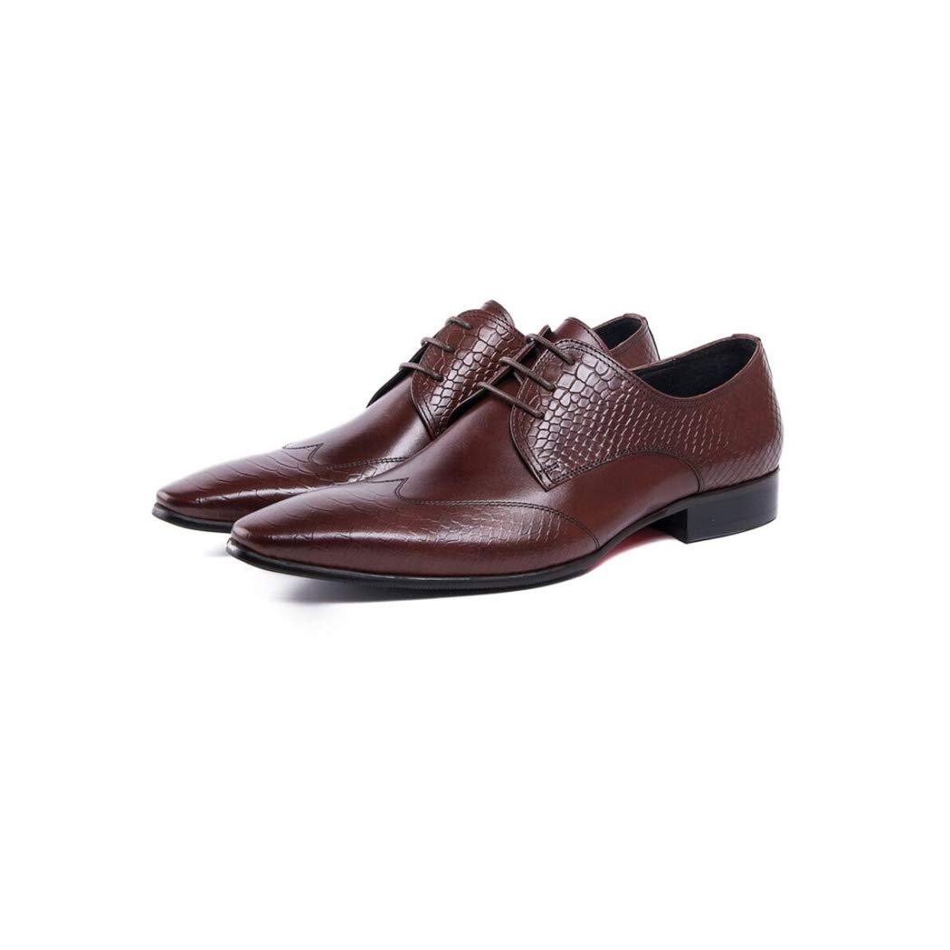 Zxcer Herren Spitzen Lederschuhe Britischen Stil Freizeitschuhe Atmungsaktive Weiche Mode Mode Mode Weave Schuhe Spitz Loafers Herrenschuhe 249544