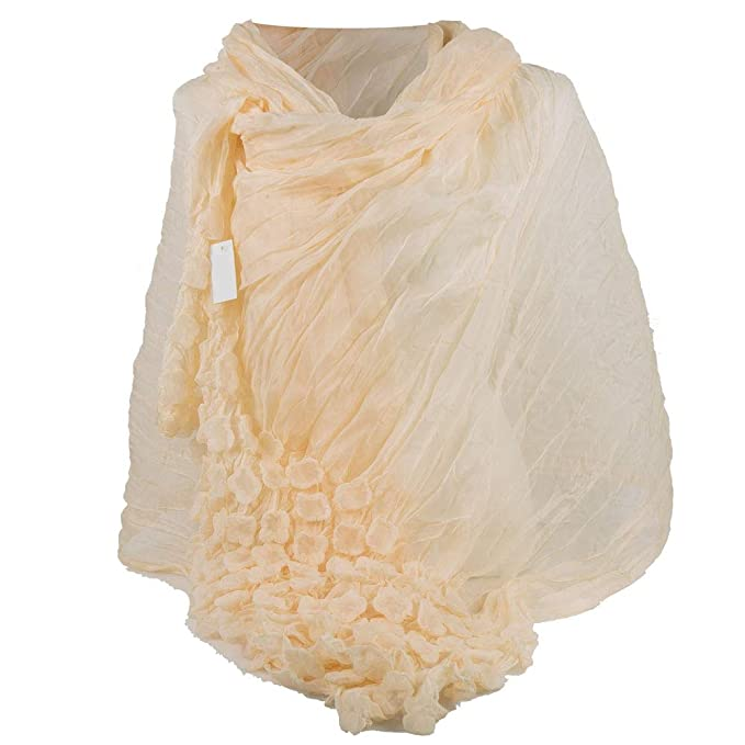 comprare on line b6b10 745ec Stola cerimonia coprispalle elegante trasparente da donna ragazza signora  anziana giorno sera fiori gialla nera verde foulard grande scialle velo ...