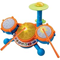 Vtech - KIDIBEATS LEARNING DRUM SET - Learn to the Beat of the Music! TEACHES: Letters, Phonics, Counting, Memory, Music