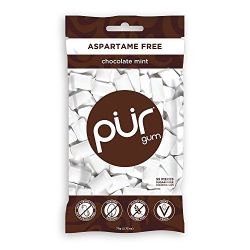PUR Gum, Sugar Free Gum; Chocolate Mint - Pack of 12