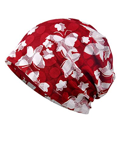 Unisex Indoors Cotton Stretch Beanie Hat- Soft Sleep Cap for Hairloss, Cancer, Chemo, Multicolor 09, One Size - Beanie 09