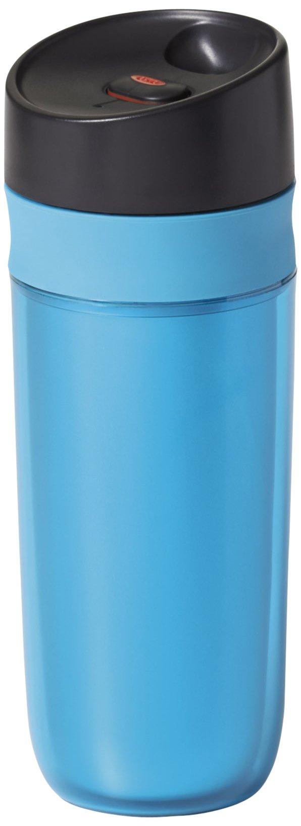 OXO Good Grips Double Wall Travel Mug, Blue- 15 ounce