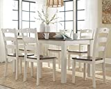 country kitchen table set Signature Design by Ashley D335-425 Woodanville Dining Table, Woodanville 7pc Set