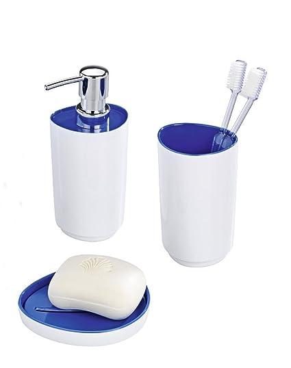 Accesorios para baño SET jabonera de vaso para cepillos de dientes de