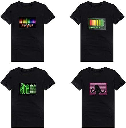 beiguo xia - Camiseta Unisex con luz LED Intermitente y Sonido Activado por Dou Yin, 3#, XXXL: Amazon.es: Deportes y aire libre