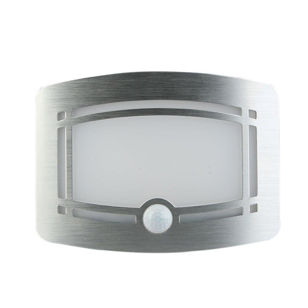 LED Lámpara de Pared, Inalámbricos Aluminio Focos con Sensor de Movimiento, Detector de Luz Nocturna para Pasillo, Sala de Estar, Escalera, Cocina, Garaje [Clase de eficiencia energética A+++] Happybuy Directory