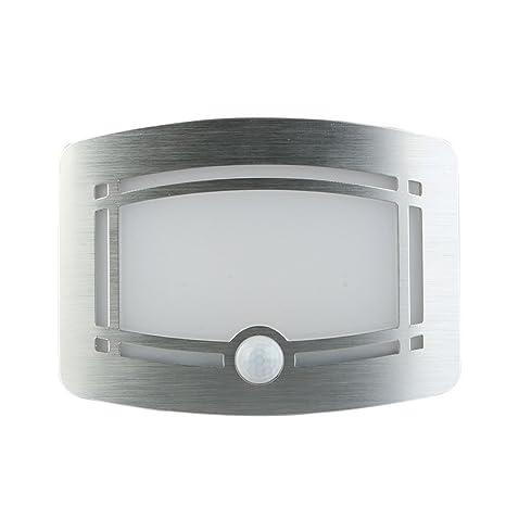 LED Lámpara de Pared, Inalámbricos Aluminio Focos con Sensor de Movimiento, Detector de Luz