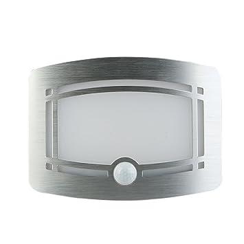 LED Lámpara de Pared, Inalámbricos Aluminio Focos con Sensor de Movimiento, Detector de Luz Nocturna para Pasillo, Sala de Estar, Escalera, Cocina, ...
