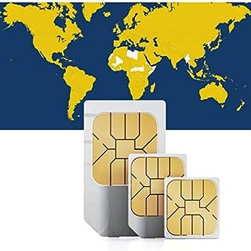 Tarjeta Data Sim de prepago (Internet móvil) para EE. UU., Australia, Suiza, Noruega, Finlandia, Finlandia, Suecia, Dinamarca, Austria, Italia, Gran Bretaña e Irlanda con 1 GB de crédito.: Amazon.es: Electrónica