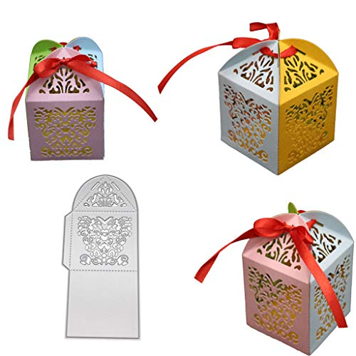 flently Three-Dimensional Gift Box DIY Die-Cuts Cutting Die Embossing Stencil Templates Mold for Scrapbooking Card Making Paper Crafts