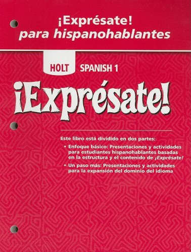 ¡Exprésate!-Expresate-Para-Hispanohablantes-Student-Edition-Levels-1A/1B/1