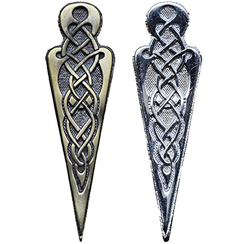 - AAR New Kilt Pin Celtie Knot Brand Scottish Brass Color Antique Finish (Size 4