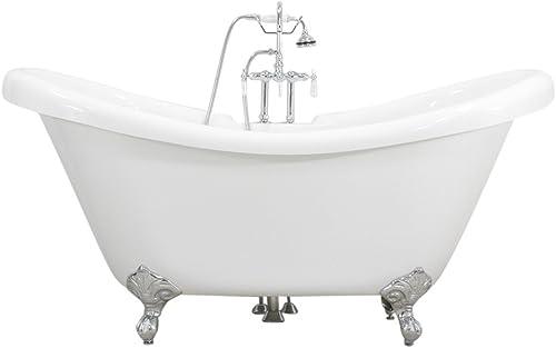 Baths of Distinction All Inclusive Package HLDS59FPK 59 Heavy Duty CoreAcryl Acrylic Double Slipper Clawfoot Bath Tub