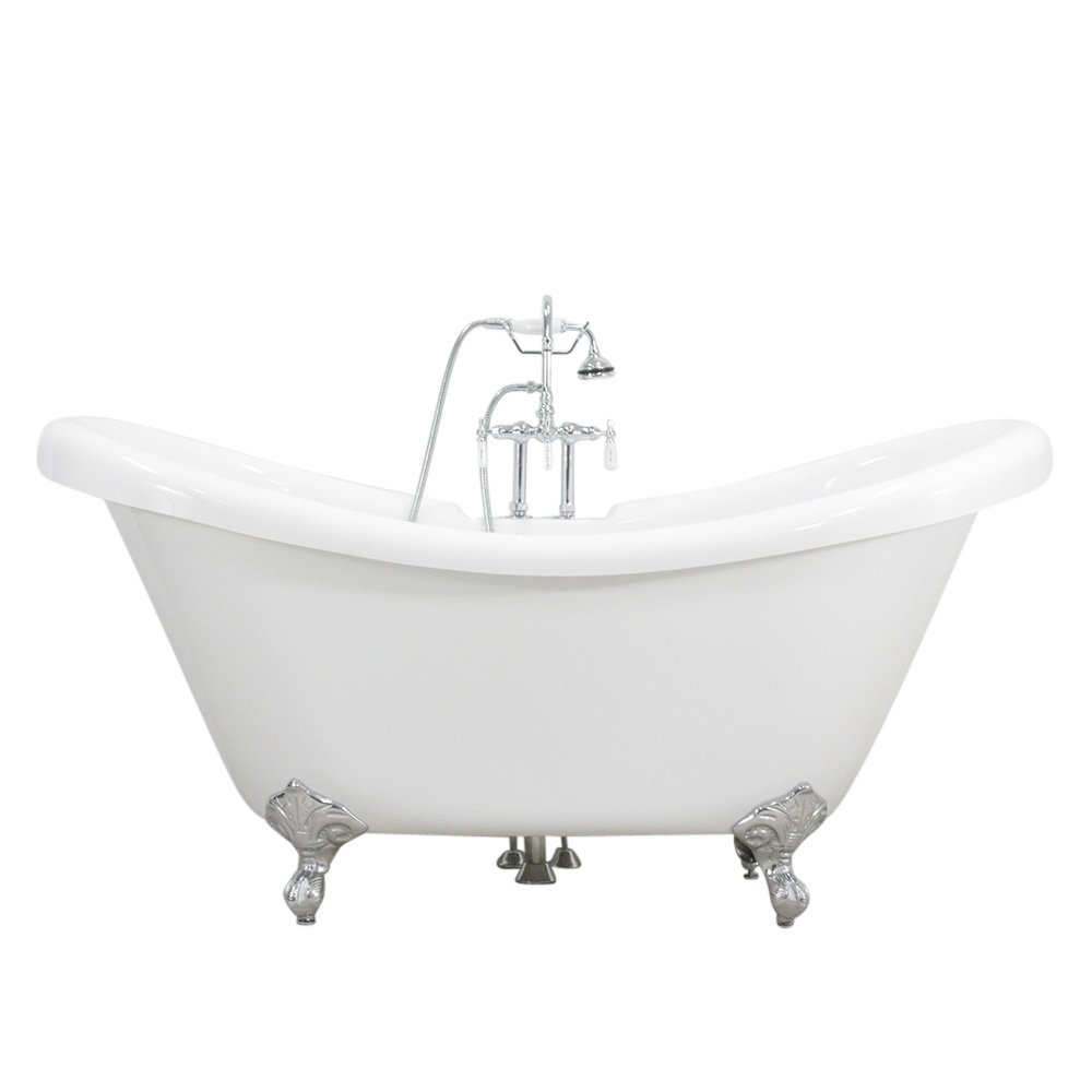 59 Quot Coreacryl Hotel Collection Double Slipper Clawfoot Tub
