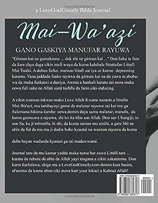 Mai-Wa'azi: Gano Gaskiya Manufar Rayuwa (Hausa Edition