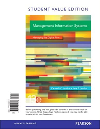 Management information systems student value edition 13th edition management information systems student value edition 13th edition kenneth c laudon jane p laudon 9780133050776 amazon books fandeluxe Gallery