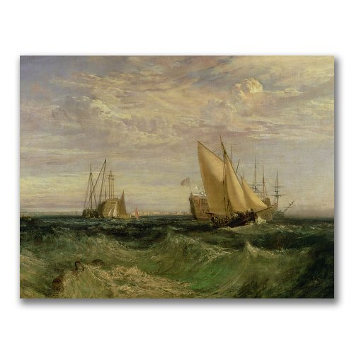The Confluence of the Thames by Joseph Turner, 18x24-Inch Canvas Wall Art (Joseph Confluence Pack)