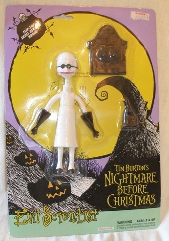 Original 1993 Nightmare Before Christmas EVIL SCIENTIST Action Figure by Hasbro (Evil Christmas Nightmare Before Toys)