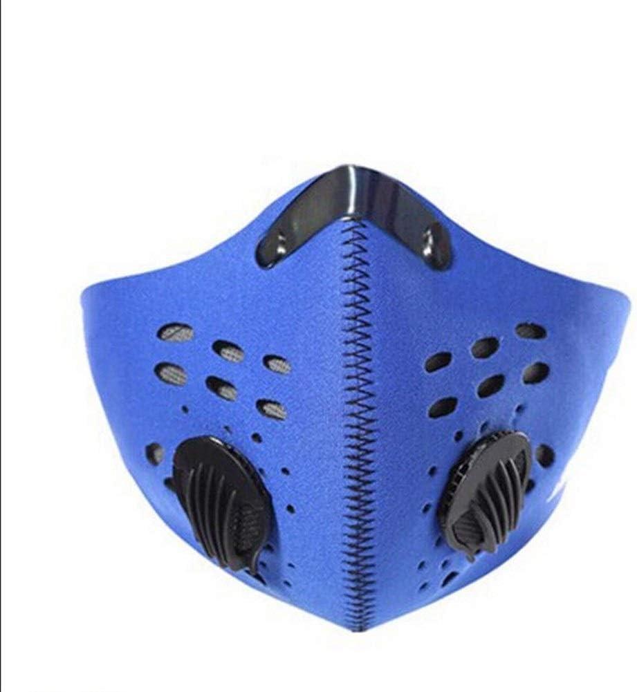 NOBRAND 2pcs, Máscara De Polvo para Deportes, Máscara De Protección contra La Contaminación para Humos De Escape Anti-Humo (Color : Blue, Size : 60cm*15.5cm)
