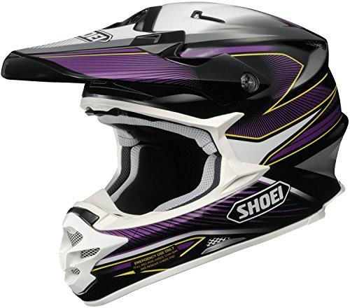 Shoei VFX-W Sear Off-Road Helmet (Black/Purple/White, Large)