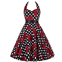 0b5fc7867f Women Sleeveless Dress, Misaky Flower Printing Vintage Dress With Belt