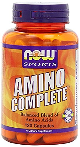 - NOW Sports Amino Complete, 120 Capsules Thank you so much for your purchase. I hope you are happy with it and I hope to do business with you again.