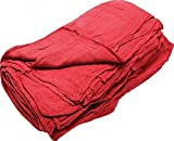 GHP 800-Pcs Red 13''x14'' 100% Cotton Osnaburg Industrial Mechanics Shop Rag Towels