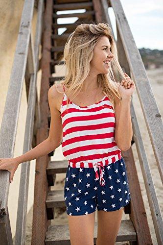 3921f34cbc90 Tipsy Elves Women s Patriotic American Flag Romper Dress