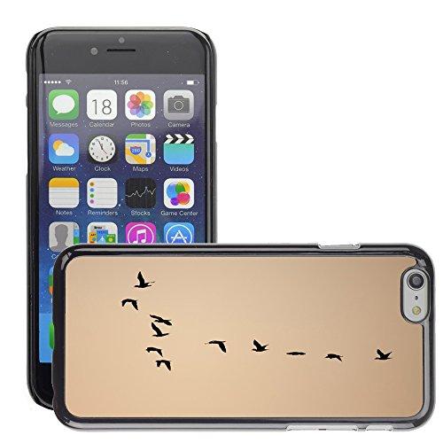 """Just Phone Cases Hard plastica indietro Case Custodie Cover pelle protettiva Per // M00127880 Oiseaux Formation Flock Flocage // Apple iPhone 6 PLUS 5.5"""""""