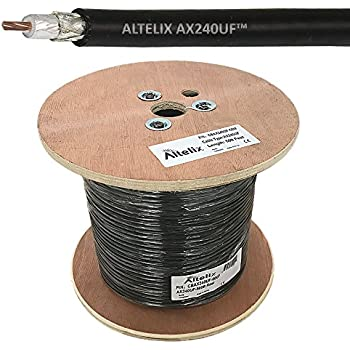 Altelix AX240UF 240 Ultra Flex Double Shielded 50 Ohm Low Loss Coaxial Cable 500 Foot Reel