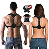 COR619 Back Posture Corrector Brace - For Men and For Women. Posture Support, Remedies Bad Posture, Medical Posture Corrector for Thoracic Kyphosis. Designed for Comfort.+ FREE Neck Pain Brace