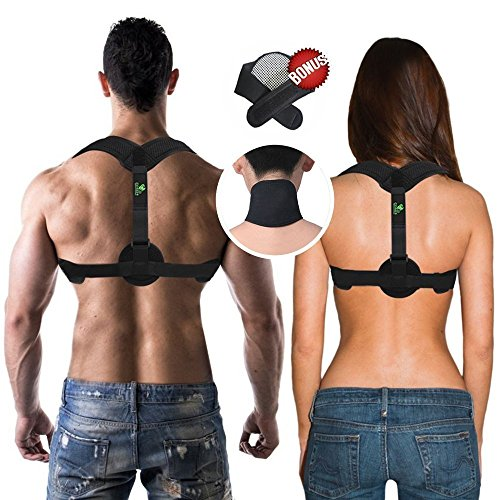 COR619 Back Posture Corrector Brace - For Men and For Women. Posture Support, Remedies Bad Posture, Medical Posture Corrector for Thoracic Kyphosis. Designed for Comfort.+ FREE Neck Pain Brace by Cor619