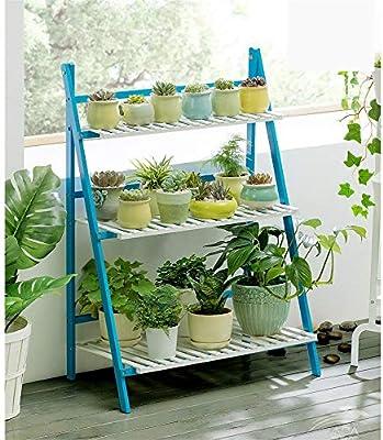 Planta de teatro Escalera plegable de madera for exhibición de macetas de madera for plantas y