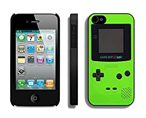 Element Apple Iphone 4s Case Durable Soft Silicone TPU Green Gameboy Black Phone Cover Accessories for Iphone 4