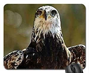 Eagle Posing Mouse Pad, Mousepad (Birds Mouse Pad, Watercolor style)