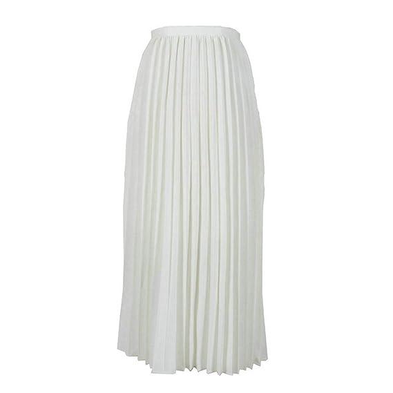 Proumy Falda Plisada Verano Mujer Vestido Fruncido Minifalda Largo ...