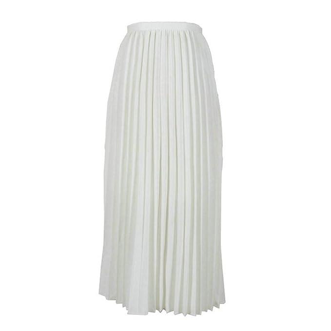 Qijinlook 💖 Faldas largas Plisada Verano 💖, Faldas largas Mujer ...