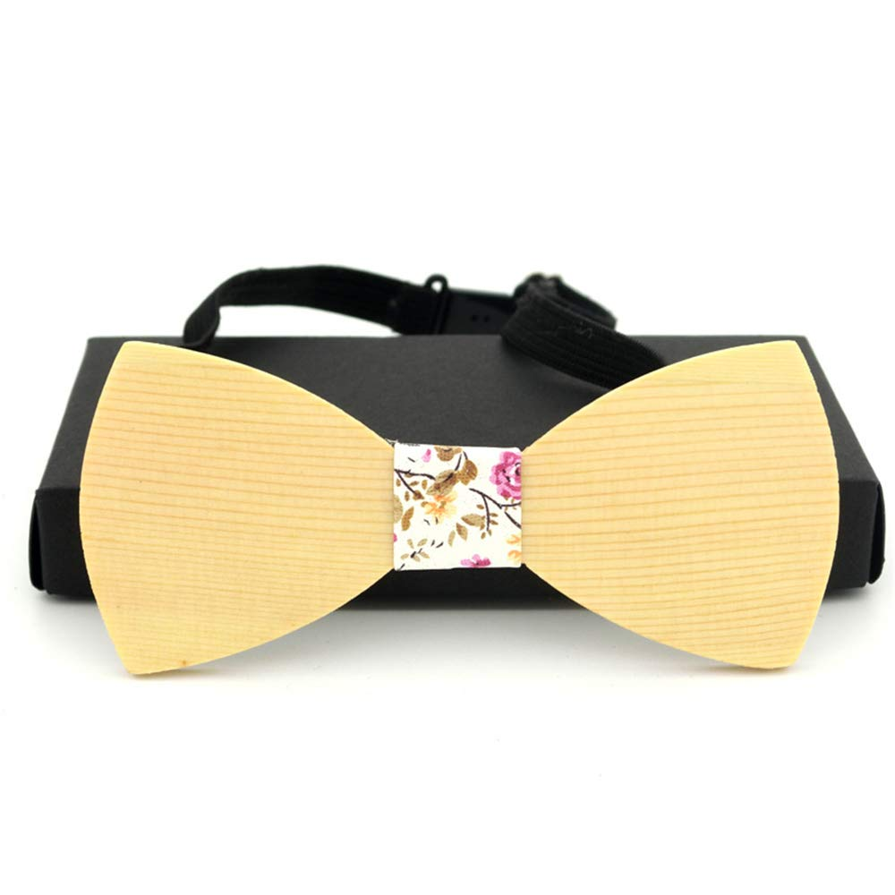 MAODATOU Men s Wooden Bow Tie Handmade Solid Wood Quality Log Custom Wooden Bow Tie Trend Tie Set Wooden Bow Tie 100/% Men Accessories Ties