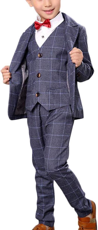 Bambini Ragazzi TUTTA BLU 3 pezzi Vestito Matrimonio Blazer Gilet Pantaloni