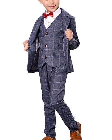 Abiti Cerimonia 3 Pezzi.Completo Bambino Ragazzo 3 Pezzi Panciotto Giacca Pantaloni Suit