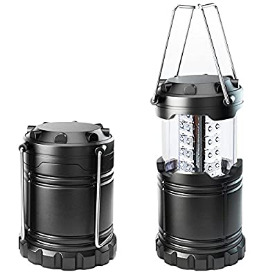 Ultra Bright LED Camping Light, Outdoor Waterproof Flashlight Hiking Light, Portable Collapsible Portable Outdoor LED Camping Lantern (2 Pack) …