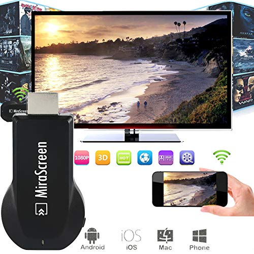 HDMI Wireless mirascreen Display Receiver WiFi 4K 1080P Mobile Screen Cast Mirroring Adapter Connector for iOS/Android…