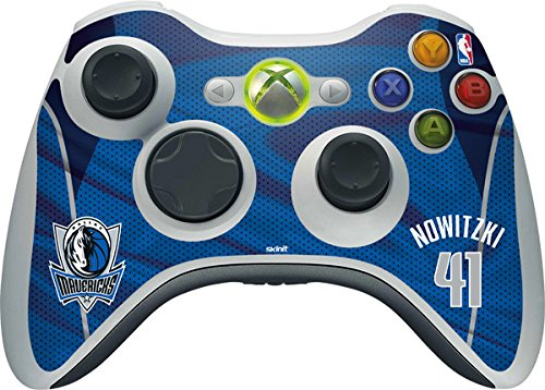 NBA - Player Jerseys - Dirk Nowitzki Dallas Mavericks Jersey - Skin for 1 Microsoft Xbox 360 Wireless Controller by Skinit