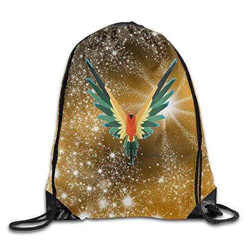 Logan Paul's Parrot Logo Bag,Sport Gym Sack Drawstring Backpack Bag