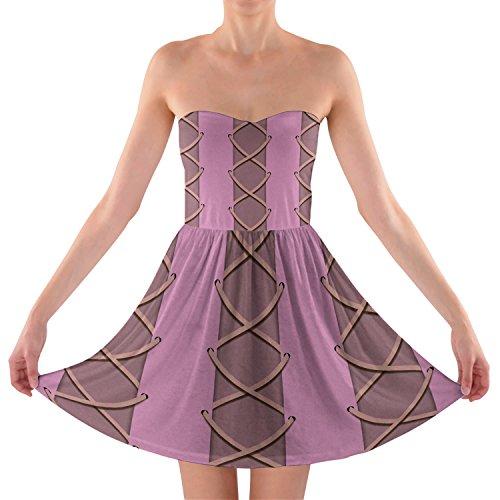 Rapunzel Bustier corsé sin tirantes vestido