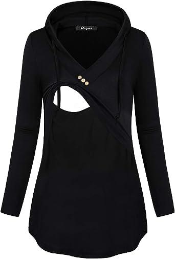 Quinee Women S Long Sleeve Plaid Colorblock Nursing Pullover Hoodie Sweatshirts At Amazon Women S Clothing Store