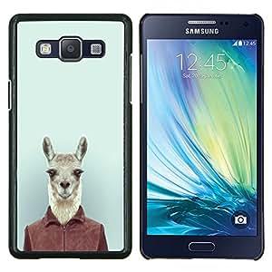 Jordan Colourful Shop - Funny Cute Hipster Lama Alpaca in Suit For Samsung Galaxy A5 A5000 A5009 Personalizado negro cubierta de la caja de pl????stico